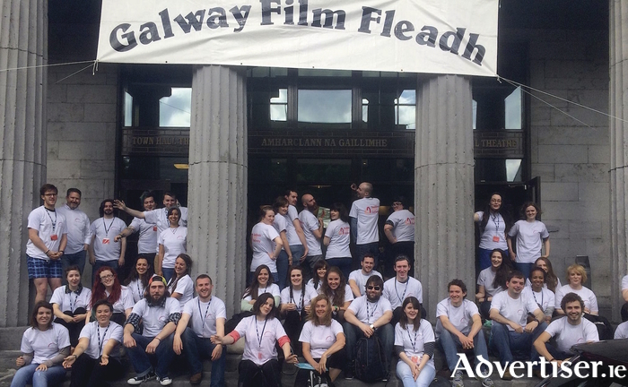 Galway Film Fleadh volunteers at the 2016 festival.