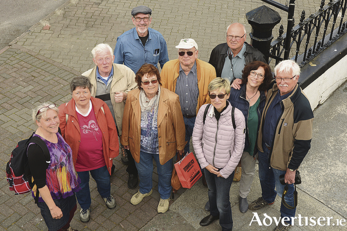 German journalist Heinz Buck (back, centre) and his group of fellow campervan enthusiasts during their tour of Ireland. Pic - John Sheehan Photography (no repro fee)