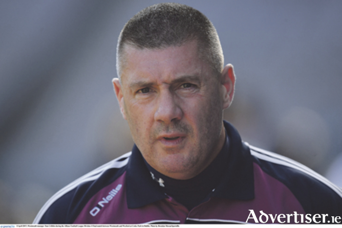 Westmeath manager, Tom Cribbin. Photo: Brendan Moran/Sportsfile