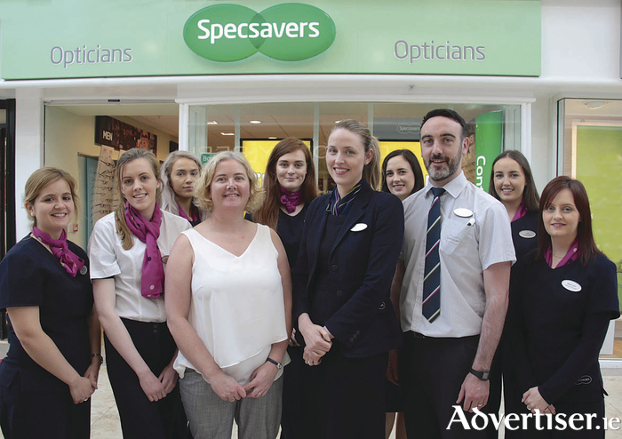 The team from Specsavers, Galway Shopping Centre.