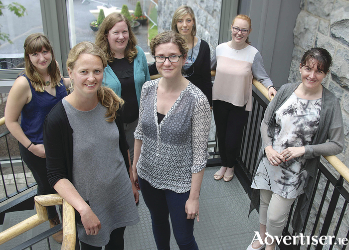 Some of the scientists taking part in next month's Soapbox Science event. Back row (l-r): Kirsten Fossum, Dr Sharon Glynn, Adele Gabba, and Fiona Malone. Front row (l-r): Dr Dara Stanley, Dr Jessamyn Fairfield, and Dr Marie Coggins. Photo: Mike Shaughnessy.