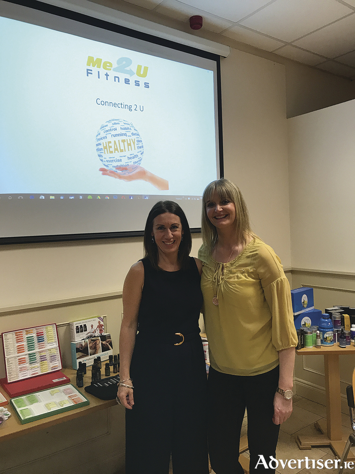 Connecting2U health and wellbeing evening held by Christina Dillon of Me2UFitness, and Shirley Tutty, a beauty and transformational coach in the Enterprise Centre Ballybane.