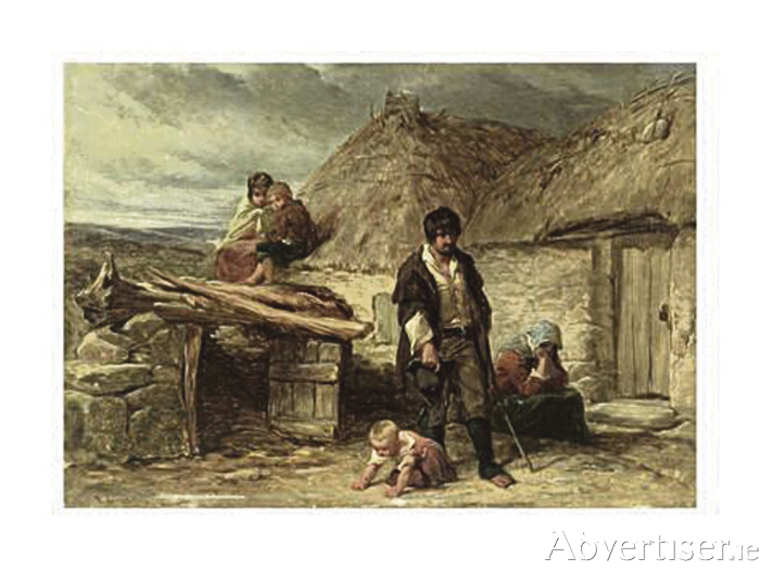 An Irish Eviction (1850) painted by Frederick Goodall, shows the uncertain future that awaited this family, and thousands of others. The children were often abandoned in workhouses, while the parents desperately sought work.