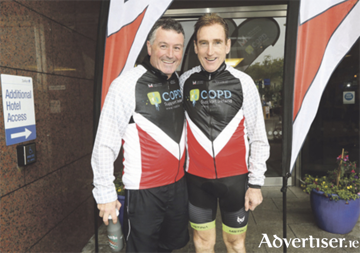 Damien Peelo, executive director at COPD Support Ireland, and legendary cycling champion, Seán Kelly