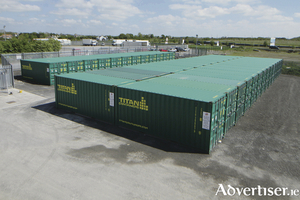 Titan Containers and self storage, Oranmore. Photo:-Mike Shaughnessy