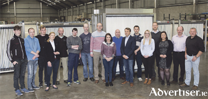 Members of the OxyMem team pictured at the company's facility in Athlone