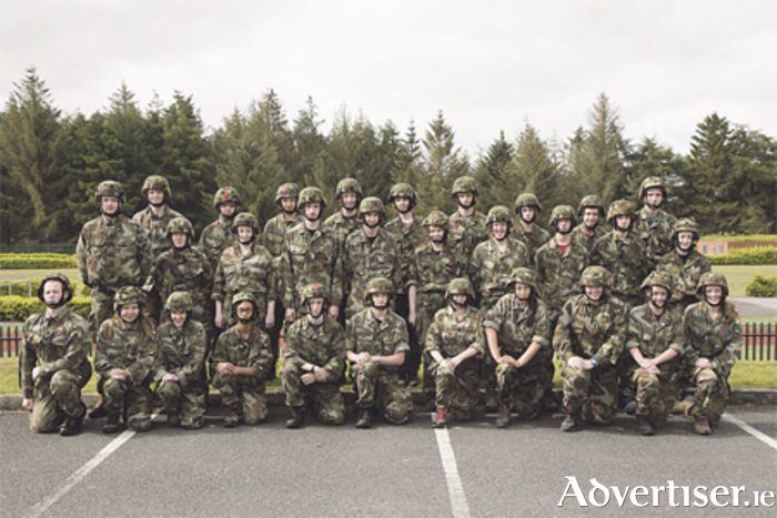 Gaisce participants joined the Defence Forces for an action-packed adventure. Photo: Michael Donnelly