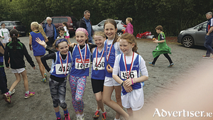 The U11 South Galway Athletic Club relay team which won gold at the Connacht Championship, now run again next Sunday in the All Irelands: Orla Mannion, Sinead Mongan, Amy Rose Kelly, Katie Scully and sub Katie O'Flaherty.