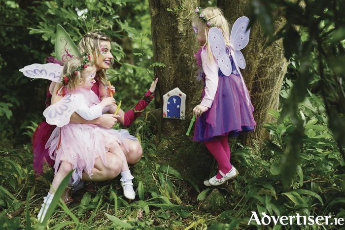 Pictured at the opening of The Ardilaun Fairy Garden were Fairy Katie with friends Leah Burke (age three) from Corrandulla, Co. Galway and Chloe Cashen (age four) from Knocknacarra who were thrilled to find all the fairy doors in The Ardilaun Hotel, Taylors Hill Galway.