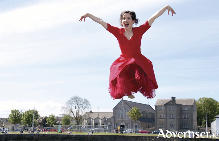 Galway dancer Stephanie Dufresne (who features on the cover of the Festival programme), photographed at the launch of the 40th Galway International Arts Festivalprogramme. Photo:-Mike Shaughnessy