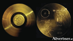 The Voyager Golden Discs which have inspired the Galway Arts Centre exhibition at GIAF 17.
