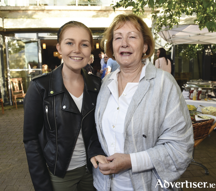 Pictured at the tenth birthday party of PoppySeed Gourmet Cafés, held in PoppySeed Clarinbridge on July 1, were Katie Joyce and Julianne Forde. Photo: Boyd Challenger.