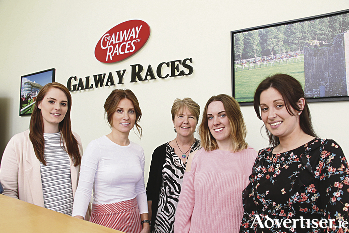 The calm before the storm for the racecourse team: Aisling O'Shea, Sinead Cassidy, Carmel Moylan, Michelle Clohessy and Sandra Ginnelly.