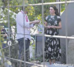 Designer Ian Price showing the Duchess of Cambridge around the garden