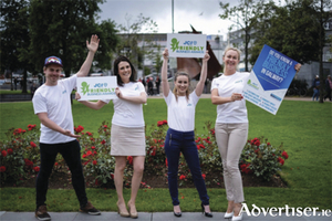 JCI Galway launches its biggest Friendly Business Awards to date. From left: Dominick Whelan (JCI Galway president), Sara Gilligan (deputy president), Tatiana Kelly (project manager), and Kerrie McLaughlin (communications officer).