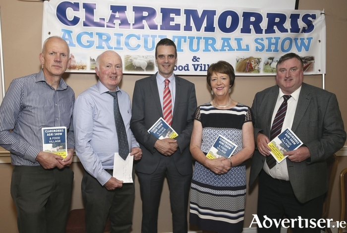 Pictured in the McWilliam Park  Hotel, Claremorris at the launch of the 99th Claremorris Agricultural Show and Food Village on Sunday, August 6, from left: Michael McGrath (treasurer), Gerry Lynch (show chairman), Joe Healy (president, Irish Farmers Association), Maureen Finnerty (secretary), and Cllr Tom Connolly (chairman Claremorris Welcome Home Committee). Photo: Michael Donnelly.