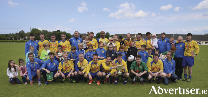 Up the Boro: Snugboro celebrate with the cup in the Tonra Cup final sponsored by Solar 21. Photo: Michael Donnelly.