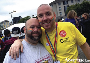 Rob Partridge (left) and his husband Bradley Rowles.