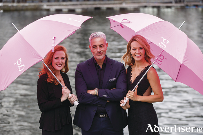 Aoibhín Garrihy and Baz Ashmawy (pictured here with Triona Barrett)  will be hosting this year's Ladies Day After Party at the g Hotel with live music, Best Hat and Most Stylish Man from 7pm.
