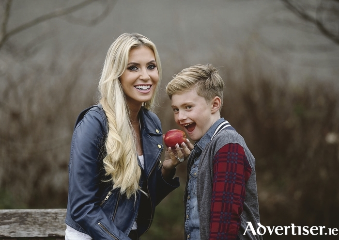 Claudine Keane and son Robert Jr launching SPAR's 2017 Better Choices Kids campaign. Photo: Robbie Reynolds