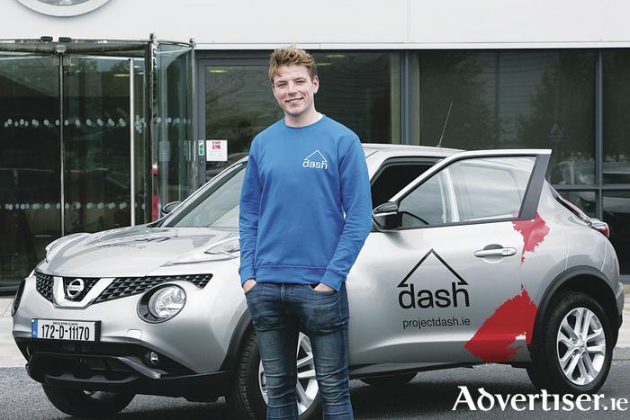 Richie Commins, founder of Dashcabz, from Galway, who won a public vote to become one of 11 Nissan Generation Next ambassadors who have each received a new, taxed and insured Nissan to drive for a year.  Pic Orla Murray/ SON Photo