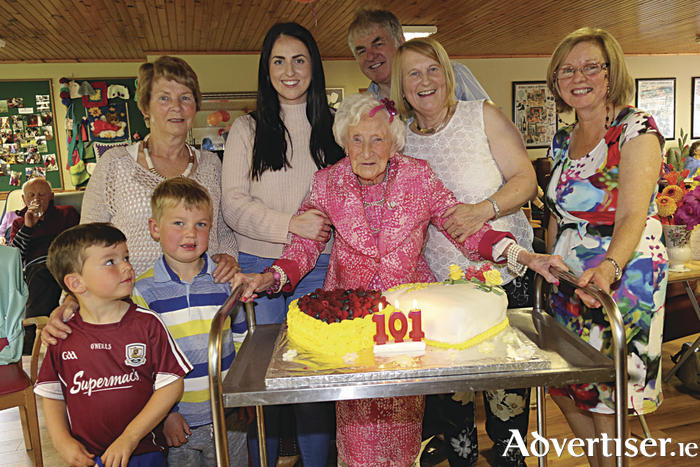 May Quinn celebrates her 101st birthfay with family and friends at Little Flower Nursing Home.