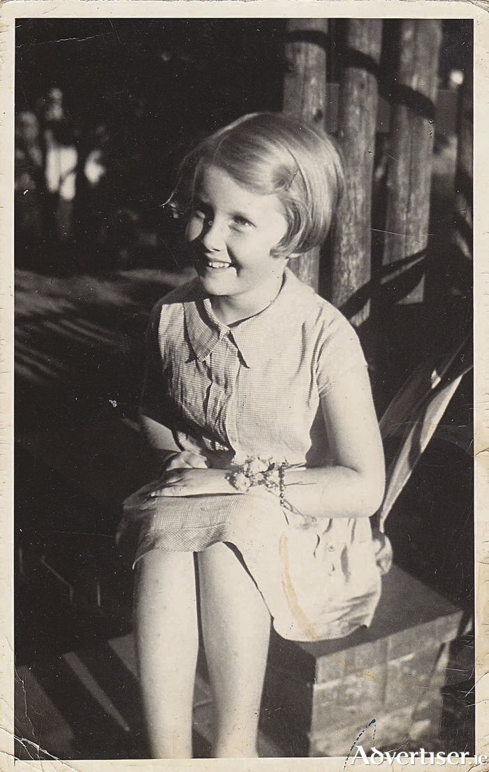 Sheilah Morris pictured as a child in the 1930s.