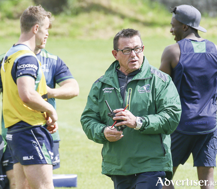Innovator and dreamer: Kieran Keane, the new Connacht Rugby coach, at a training session at the Sprtsground on Tuesday. Photo:- Mike Shaughnessy