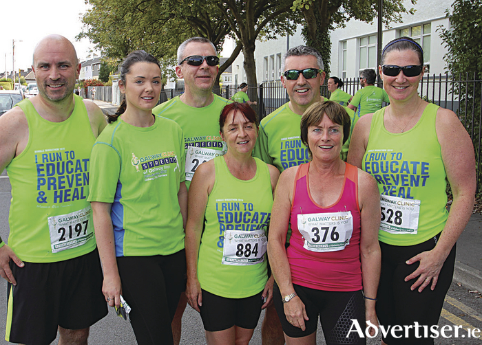 The Manuela Riedo Foundation team of runners who took part in the Galway Clinic Streets of Galway Run on Saturday night. Photo:-Mike Shaughnessy