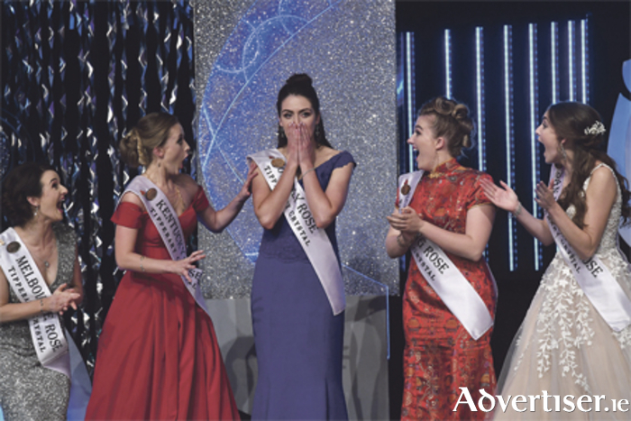 Sheer delight as Offaly Rose Jennifer Byrne from Ballinahown is crowned the International Rose of Tralee 2017.  Photo: Domnick Walsh Photography