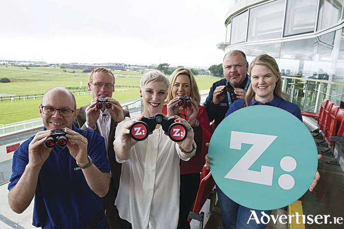 Vincent Dignam, Agile Line Manager, Ericsson, Colin Donnery, General Manager, FRS recruitment Jackie Slattery, Director, Career Zoo,  Laura Bourke, Regional Manager West, FRS recruitment ,Brian Kelly, Director, Recruitment, Pramerica Systems Ireland Ltd and Laura McGuckin, Technical Manager, Ericsson at the launch of Career Zoo West yesterday at Galway Racecourse. Photo:Andrew Downes, xposure .