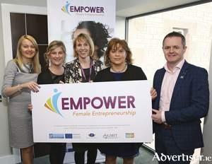 "GMIT iHubs launch EMPOWER programme for women entrepreneurs Announcing details of the new ""EMPOWER"" Programme which will be led by GMIT iHubs in Galway, Mayo, Roscommon, L to R: Pamela Barrett (Mayo LEO), Caroline Gordon (Network Mayo), Maria Staunton (GMIT iHubs and EMPOWER Programme Manager) Margaret Charleton (Enterprise Ireland) and John Magee (Mayo LEO)."