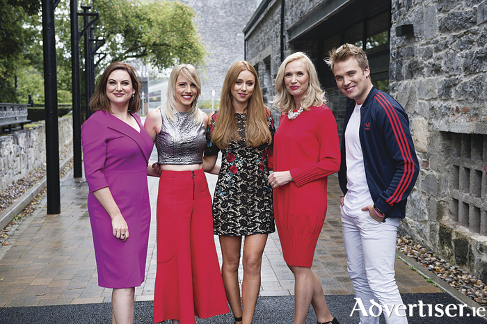 Eimear Ni Chonaola, Nuacht,  Maire Treasa Ni Dhubhghaill- (Rugbai Beo) , Una Healy- Opry Dhoire,  Maire Eillis Ni Fhlatharta, Ros na Run and Micheal Ciaraidh Cula 4 TG4 presenter at the Autumn launch of TG4. Photo:Andrew Downes, xposure .