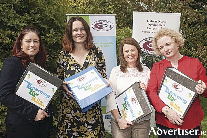 The Galway Rural Development SICAP team (l to r): Clara Cashman, Aoibheann McCann, Freeda Garman, and Fiona Blaney, pictured at the launch of the Learning for Life Autumn Roadshow which will showcase information on free training, job opportunities, and apprenticeships for jobseekers as well as workshops on CV preparation and interview skills. Photo: Michael Burke.