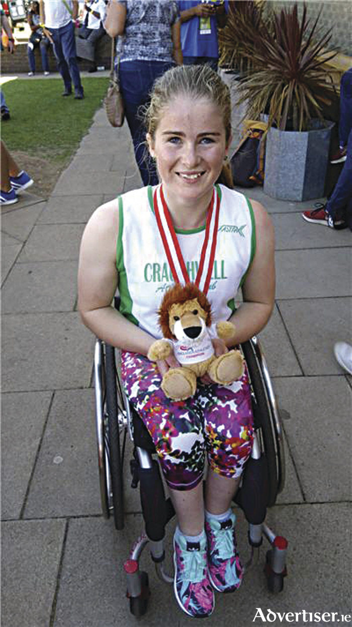 Triple winner: Shauna Bocquet celebrates three golds and a silver at the England Age Group Championships.