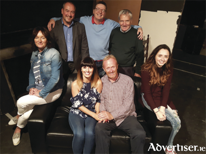 Cast members from 'The Second Mrs. Tanqueray' (back, l-r) Tina O'Hara, Paul Gill, Brian Toolan, Pearse Murphy, Emma O'Neill; and seated, front, Laura Geraghty and Frank O'Brien