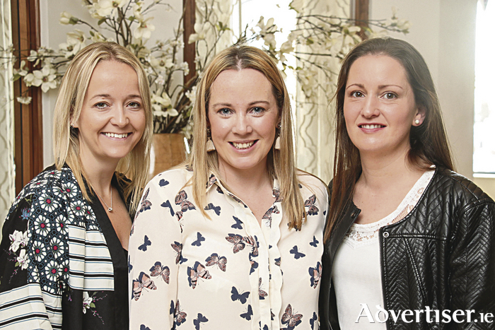 Jennifer Cormican, Orla O'Shea and Eilish Noone attending the Love Yourself Beauty and Health Event at the Loughrea Hotel and Spa with guest speakers Jennifer Rock aka the Skin Nerd, Siobhan O' Hagan OH Fitness, Sinead Kavanagh Blogger The Beautiful Truth and Yon-Ka Ambassador Pamela Flood who was MC. Photo:- Mike Shaughnessy