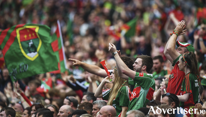 Flying the flag: The Mayo support has been huge over the past few years, we caught up with two die hard supporters. Photo: Sportsfile.