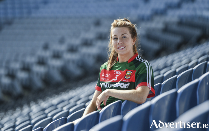 Back on Sunday: Mayo captain Sarah Tierney was in Croke Park this week at the launch of the Ladies GAA All Ireland finals. Photo: Sportsfile.