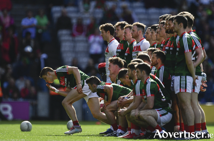They gave their all but it just was not to be for Mayo again on Sunday. Photo: Sportsfile.