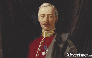 A detail from William Orpen's Lieutenant-Colonel George Henry Morris (1872-1914).