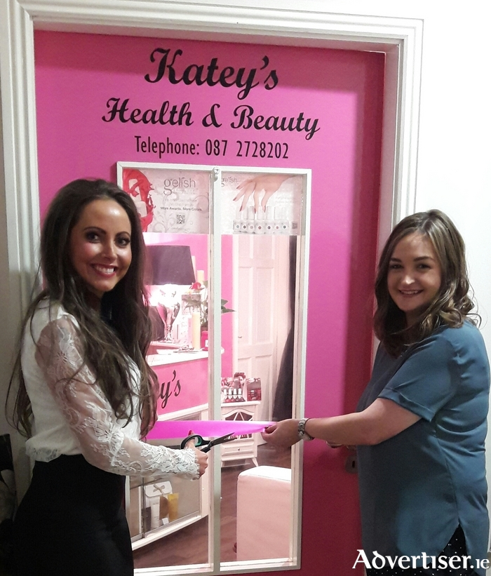 Proprietor Katey Butler and Decleor consultant Melissa Farrell at the official opening of Katey's Health and Beauty Clinic.