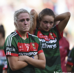 There was heart brake for Fiona Doherty and Ciara Whyte and the rest of the Mayo Ladies team last week, but they put in an excellent showing this year. Photo: Sportsfile