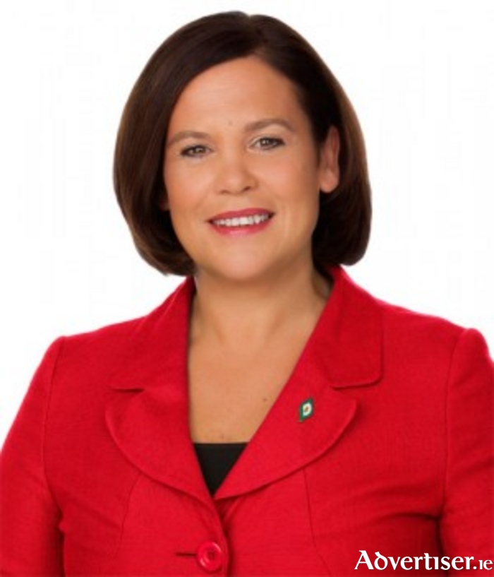 Sinn Fein Deputy Leader Mary Lou McDonald will be in Mayo this weekend attending a number of events.