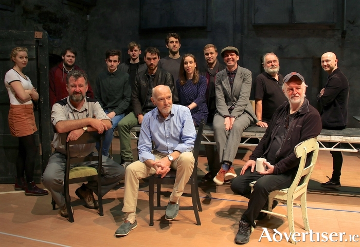 The cast of Druid Theatre's production King of the Castle, by Eugene McCabe. Photo:-Mike Shaughnessy
