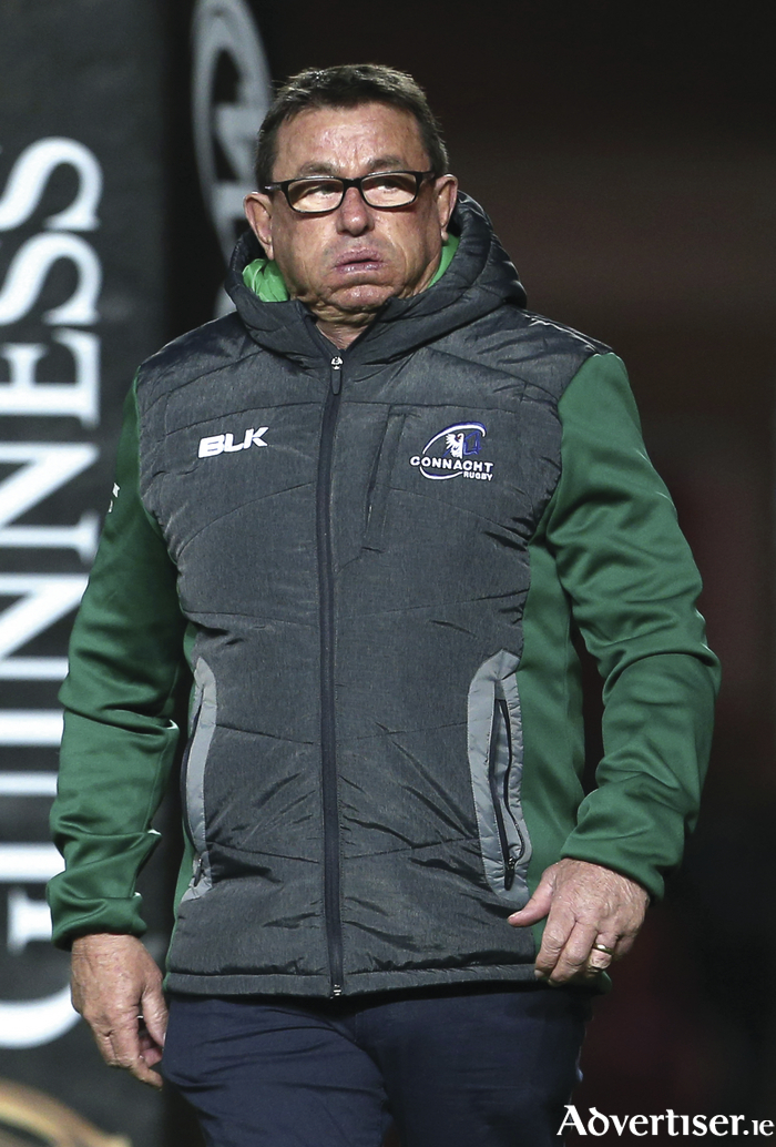 Connacht head coach Kieran Keane wants to see improved performances turn into wins. Photo: Sportsfile