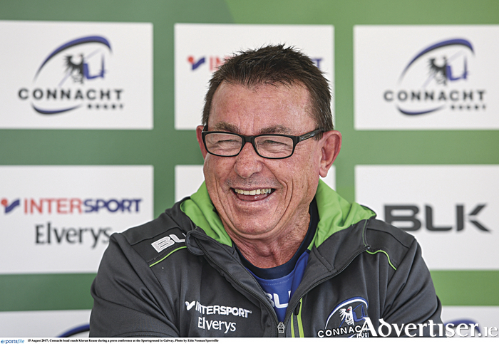 Connacht head coach Kieran Keane, staying positive , together and tough.