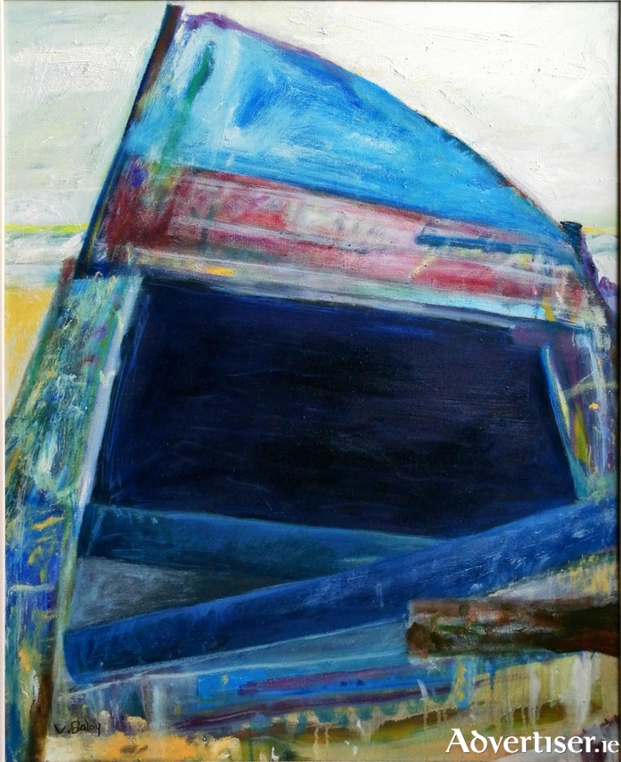 Salty Blue by Veronica Bolay is just one of the many of her pieces on display in the Custom House Studios in Westport.