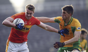 Back for more: Danny Kirby kicked a goal for Castlebar Mitchels, but they will have to do it all over again - against Garrymore after their meeting ended in a draw. Photo: Sportsfile