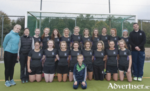 The Connacht U18 girls hockey squad compete in the All Ireland Interprovincials this weekend in Belfast. Front row from left, Anna O'Donoghue, GK, Aoife Murphy, Eimear Osborne, Ella McDermott, Sarah Dunleavy, Captain, Kate Matthews, GK, Aoife McGovern and Fiona Kelly. Back row, Lorraine McGowan, Manager, Aisling Keogh, President, Connacht Hockey, Ciara Murphy, Ruth McNulty, Anna O'Hara, Jean Brennan, Captain, Clodagh Gaffney, Ciara Burke, Ciara Keenan, Gillian Moran, Ellen Burke, Eve McDaid and Reg Bennett, Coach. Adam Bennett is the mascot.